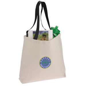 Colored Handle Tote - Embroidered Main Image