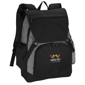 Pike Laptop Backpack - Embroidered Main Image