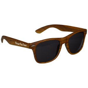 Risky Business Sunglasses - Wood Grain Main Image
