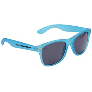 Silky Smooth Retro Sunglasses - Translucent Main Image