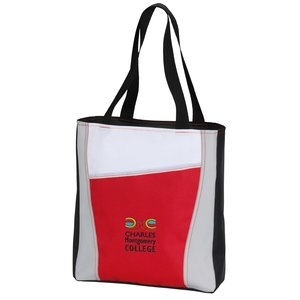 Accent Panel Tote - Embroidered Main Image