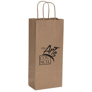 "Natural Kraft Shopping Bags - 13"" x 5-1/2"""