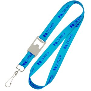 Bottle Opener Lanyard with Swivel Hook Main Image