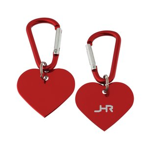 Aluminum Dog Tag Key Chain - Heart - Closeout Main Image