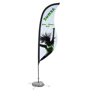 Indoor Sabre Sail Sign - 9' - One Sided