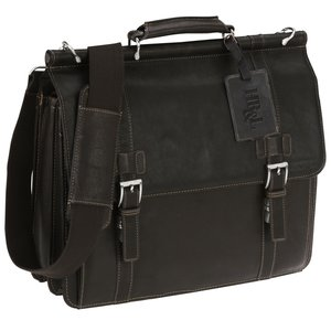 Kenneth Cole Colombian Leather Dowel Laptop Bag Main Image