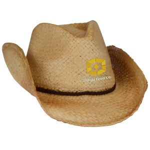 Natural Raffia Straw Cowboy Hat Main Image