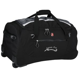 "Wenger Sporty Gray Ripstop 20"" Rolling Duffel Main Image"