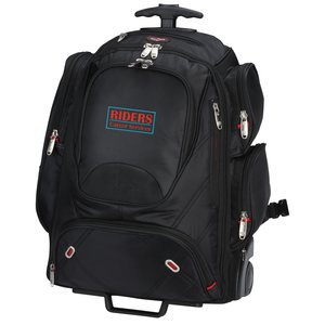 elleven Wheeled Security-Friendly Laptop Backpack - Emb Main Image