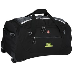 "Wenger Sporty Gray Ripstop 20"" Rolling Duffel - Emb Main Image"