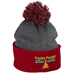 Pom Pom Knit Hat Main Image