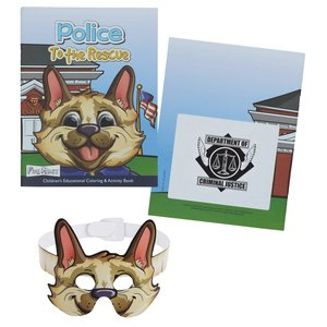 Coloring Book with Mask - Police to the Rescue Main Image