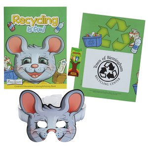 Coloring Book with Mask & Crayons - Recycling is Fun Main Image