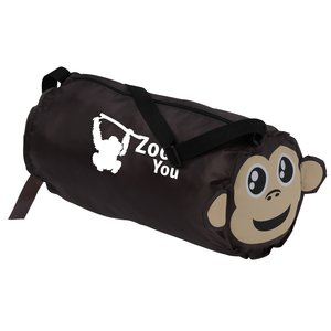 Paws and Claws Barrel Duffel Bag - Monkey