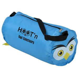 Paws and Claws Barrel Duffel Bag - Owl Main Image