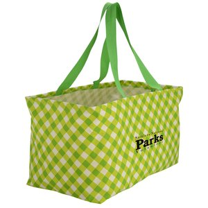 "Utility Tote - 12-1/2"" x 22"" - Gingham Main Image"