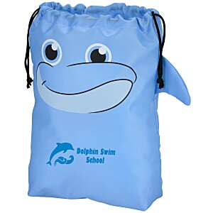 Paws and Claws Drawstring Gift Bag - Dolphin Main Image