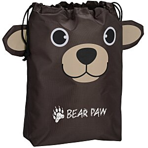 Paws and Claws Drawstring Gift Bag - Bear Main Image