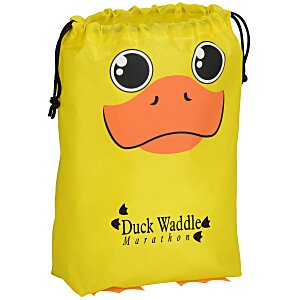Paws and Claws Drawstring Gift Bag - Duck Main Image