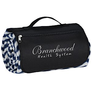 Picnic/Stadium Blanket - Navy Chevron Main Image