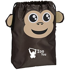 Paws and Claws Drawstring Gift Bag - Monkey Main Image
