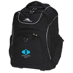 High Sierra Powerglide Wheeled Laptop Backpack - Embroidered Main Image