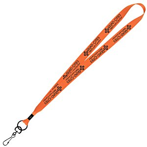 "Economy Lanyard - 3/4"" - Metal Swivel Snap Hook Main Image"