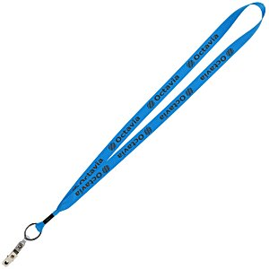 "Economy Lanyard - 3/4"" - Snap with Metal Bulldog Clip Main Image"