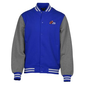 Letterman Fleece Sweatshirt Jacket - Men's Main Image