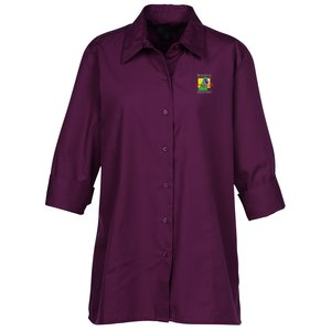 Superblend 3/4 Sleeve Poplin Swing Shirt - Ladies' Main Image