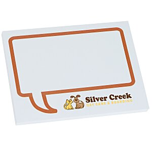 "Bic Sticky Note - Designer - 3"" x 4"" - Message Bubble - 50 Sheet Main Image"