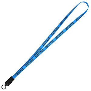 "Smooth Nylon Lanyard - 1/2"" - 32"" - Snap Buckle Release Main Image"