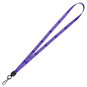 "Smooth Nylon Lanyard - 1/2"" - 36"" - Metal Swivel Snap Hook Main Image"
