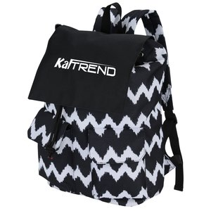 In Print Rucksack Backpack - Chevron Main Image