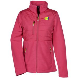 Quilted Overlay Fleece Jacket - Ladies' Main Image