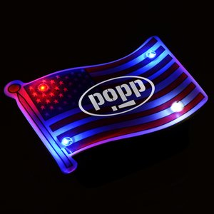Flashing USA Flag Pin