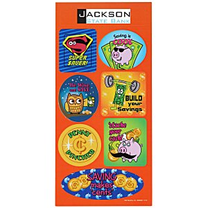 Super Kid Sticker Sheet - Dollars and Cents Main Image