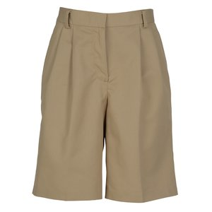 Poly/Cotton Pleated Front Transit Shorts - Ladies' Main Image