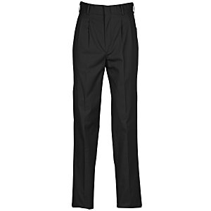 Poly/Cotton Pleated Front Transit Pants - Men's Main Image