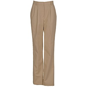 Poly/Cotton Pleated Front Transit Pants - Ladies' Main Image