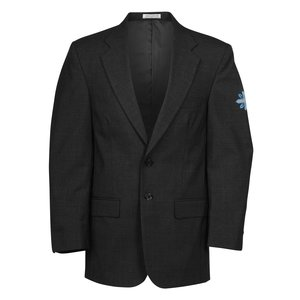 Poly/Wool Single Breasted Suit Coat - Men's Main Image