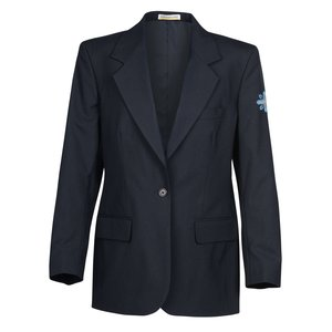 Poly/Wool Single Breasted Suit Coat - Ladies'