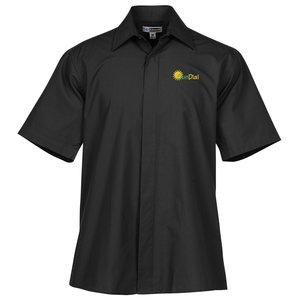 Broadcloth Short Sleeve Café Shirt - Men's Main Image