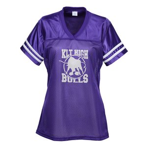 Poly Mesh Jersey V-Neck T-Shirt - Ladies' Main Image