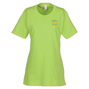 Essential Ring Spun Cotton T-Shirt - Ladies' - Colors - Emb Main Image