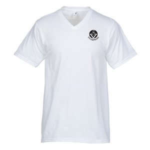 Anvil Ringspun 4.5 oz. V-Neck T-Shirt - Men's - White Main Image