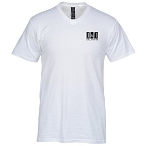 Hanes Nano-T 4.5 oz. V-Neck T-Shirt - Men's - White Main Image