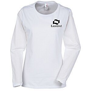 Anvil Ringspun 4.5 oz. LS T-Shirt - Ladies' - White Main Image