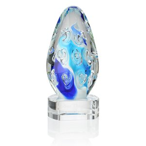 Pacifica Art Glass Award - Clear Base Main Image