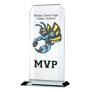 "Aspire Starfire Glass Award - 11"" - Full Color Main Image"